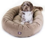 Majestic Pet Suede Bagel Bed