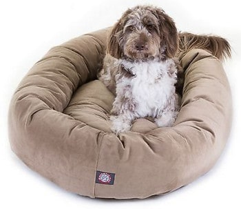 Majestic-Pet-Suede-Bagel-Dog-Bed
