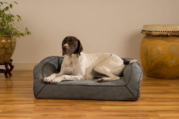 K9 Ballistics Orthopedic Bolstered Microfiber Dog Bed with Waterproof Liner