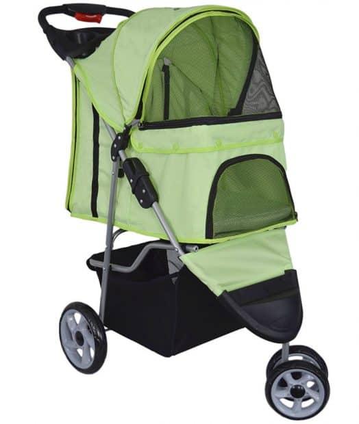 VIVO Three-Wheeled Dog Stroller
