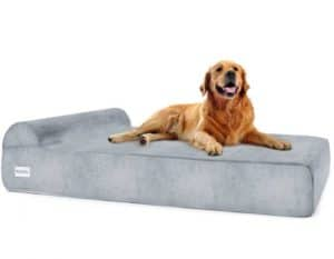 Petlo Large Orthopedic Pet Bed with Head Rest