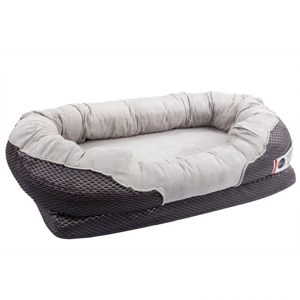 BarksBar Gray Orthopedic Dog Bed for Greyhounds