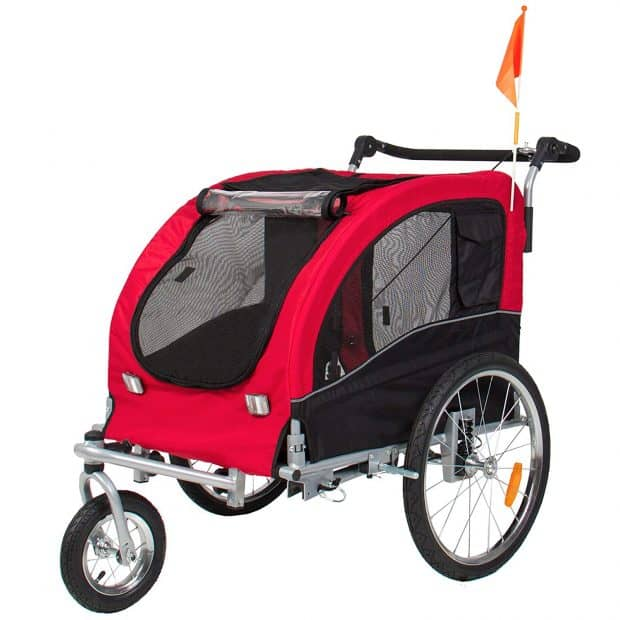 Best Choice Products 2-in-1 Pet Stroller and Trailer w:Hitch