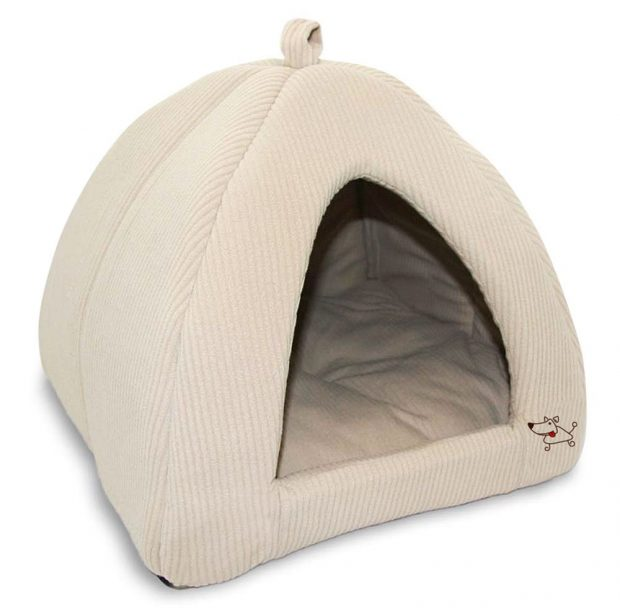Best Pet Supplies Corduroy Tent Bed for Pets,