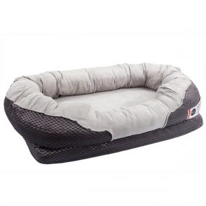 BarksBar Gray Orthopedic Dog Bed for German Shepherds