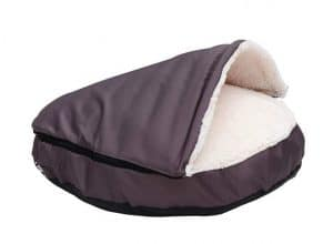 HappyCare Textiles Durable Oxford to Sherpa Pet Cave and Round Dog Bed
