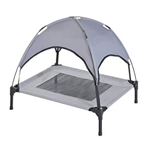 PawHut Elevated Cooling Dog Bed with Canopy