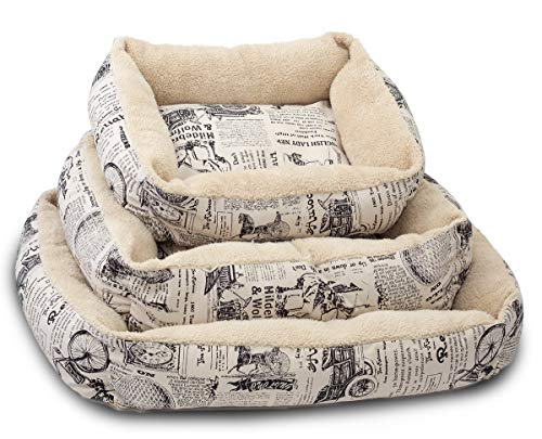 Paws & Pals Pet Bed for Cat and Dog Crate Pad - Deluxe Premium Bedding