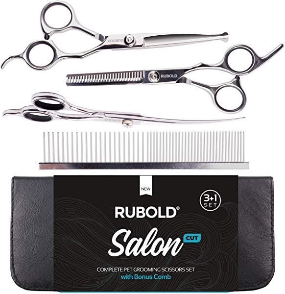 RUBOLD Professional Dog Grooming Scissors Set